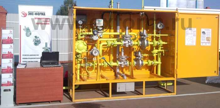 Установка газорегуляторная шкафная с узлом учета УГРШ-100Н-2-ЭК, УГРШ-100В-2-ЭК