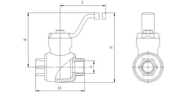 Схема конструкции кранов ГШК с