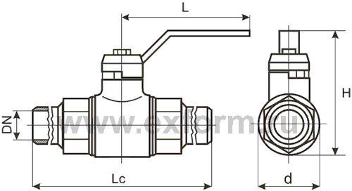 Шаровой кран ГШК-20С под приварку Ду-20, Ру-16(25)