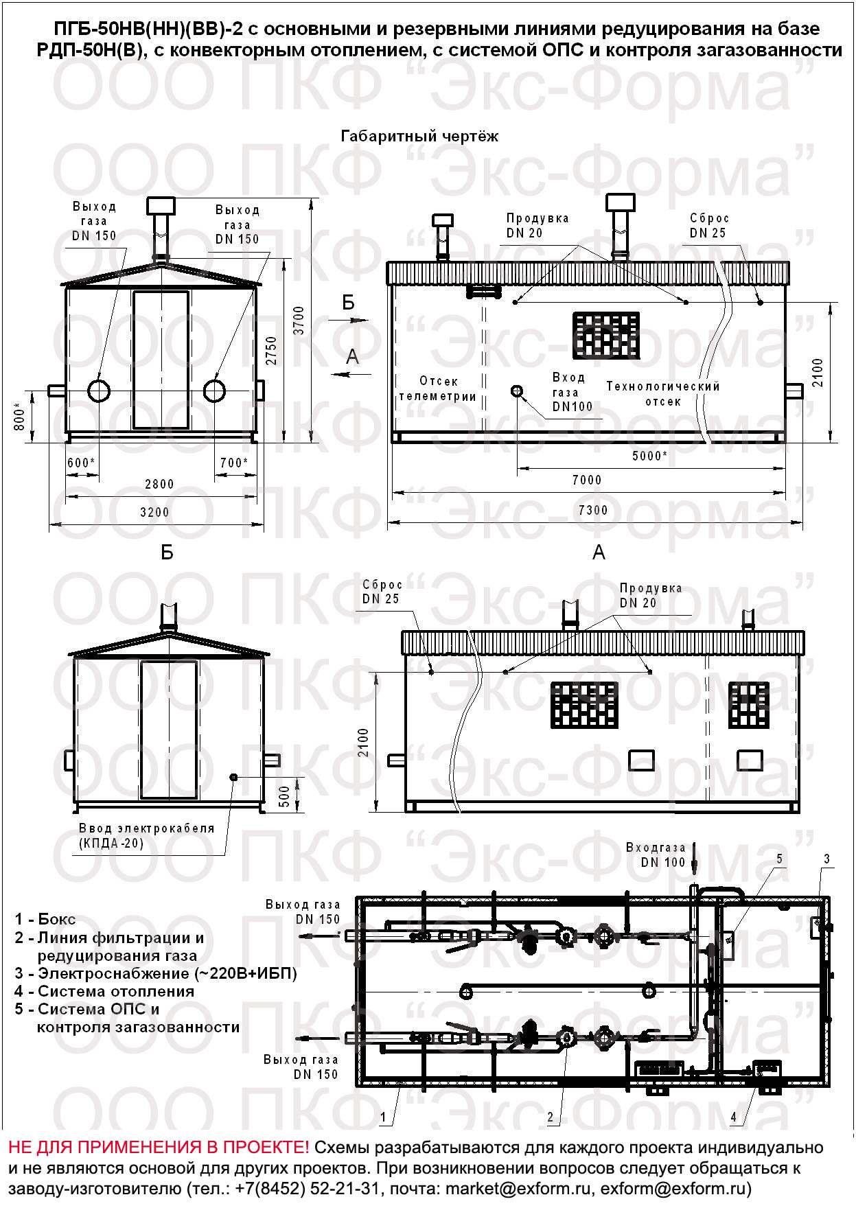 схема ПГБ-50НВ(НН)(ВВ)-2