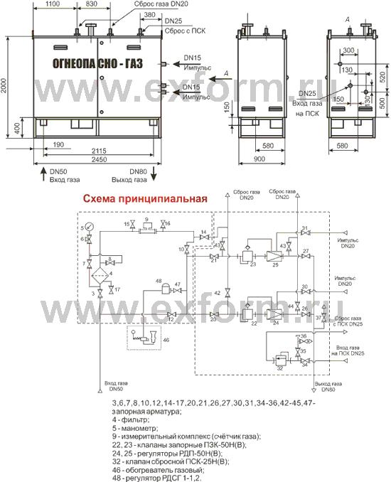 схема УГРШ-50Н(В)-2-ЭК